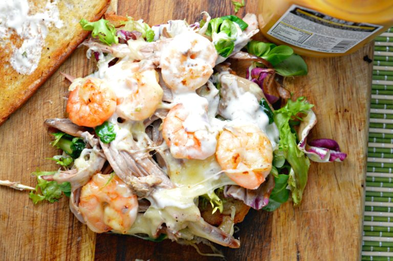 Shredded Goose & Shrimp Sandwich
