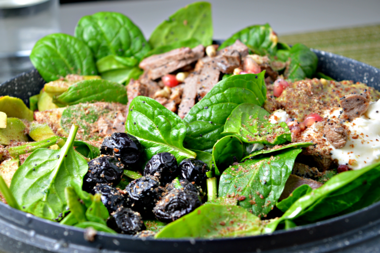 Leftover Duck & Spinach Salad
