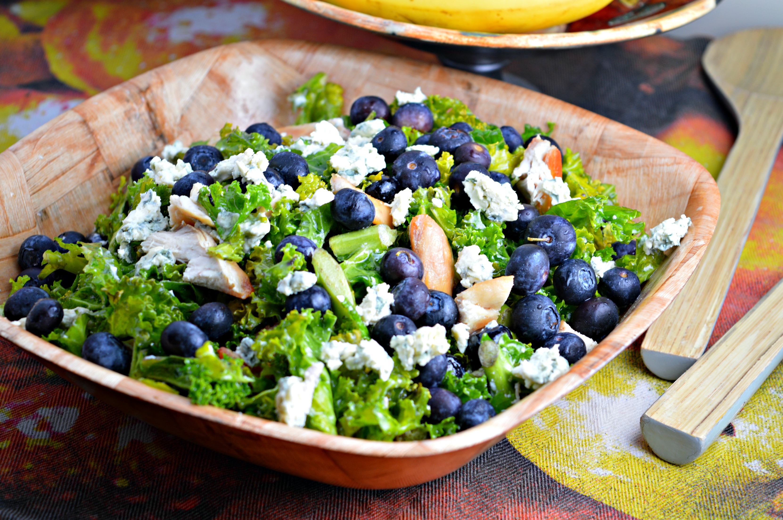Kale, Blueberry & Grilled Chicken Salad