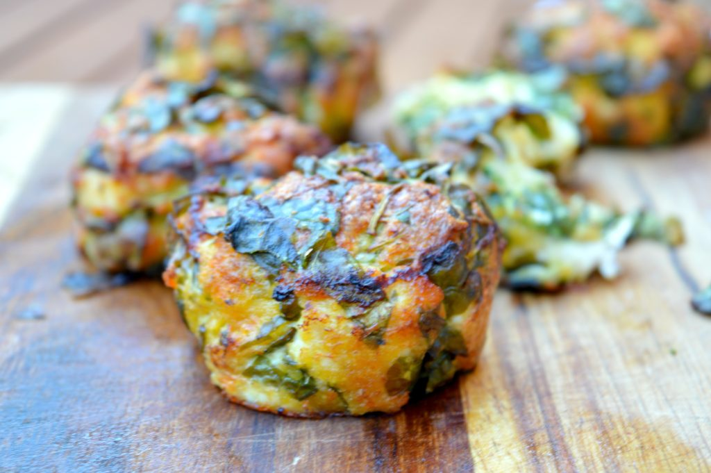 Cheesy Chicken & Spinach Bites