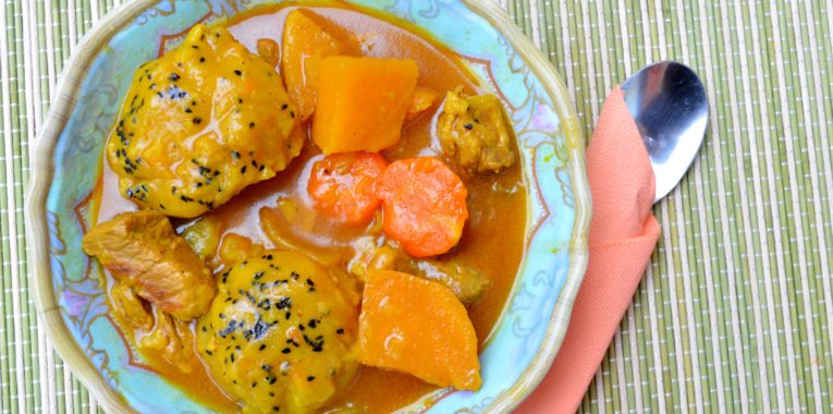 Slow Cook Pork Stew with Dumplings
