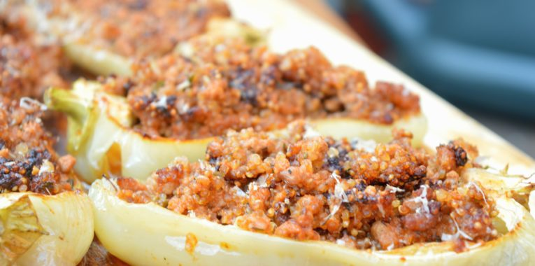 Quinoa & Beef Stuffed Peppers