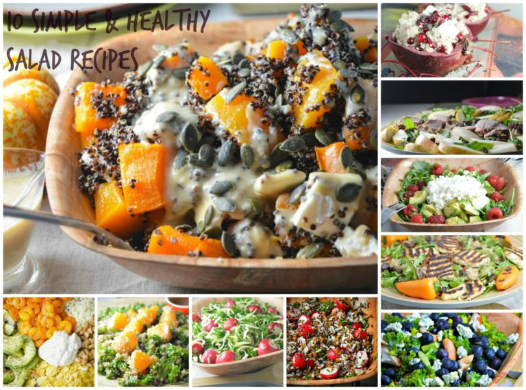 10 Simple & Healthy Salad Recipes