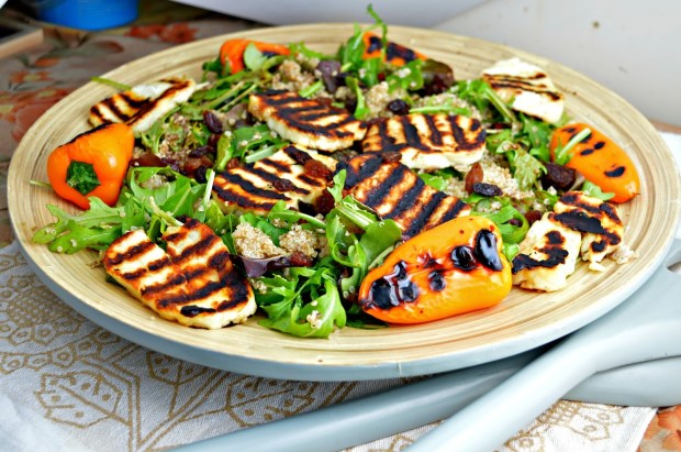 Grilled Halloumi & Baby Peppers Salad