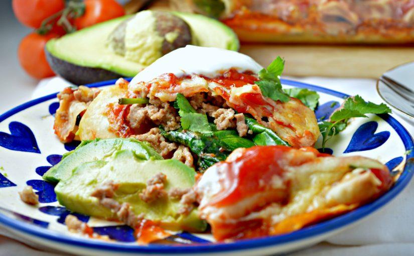 Turkey & Spinach Enchiladas