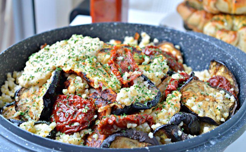 MM: Grilled Vegetables & Halloumi Bulgur Salad