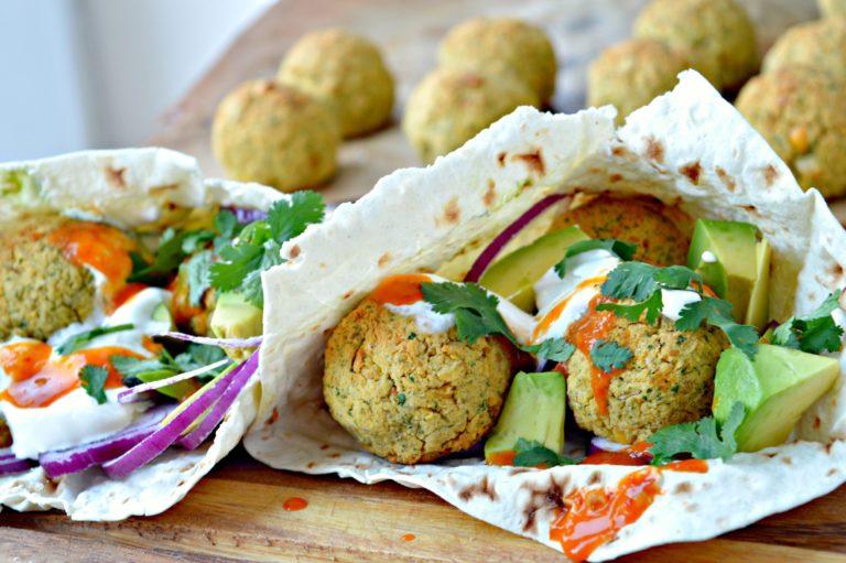 Easy Falafel Pita