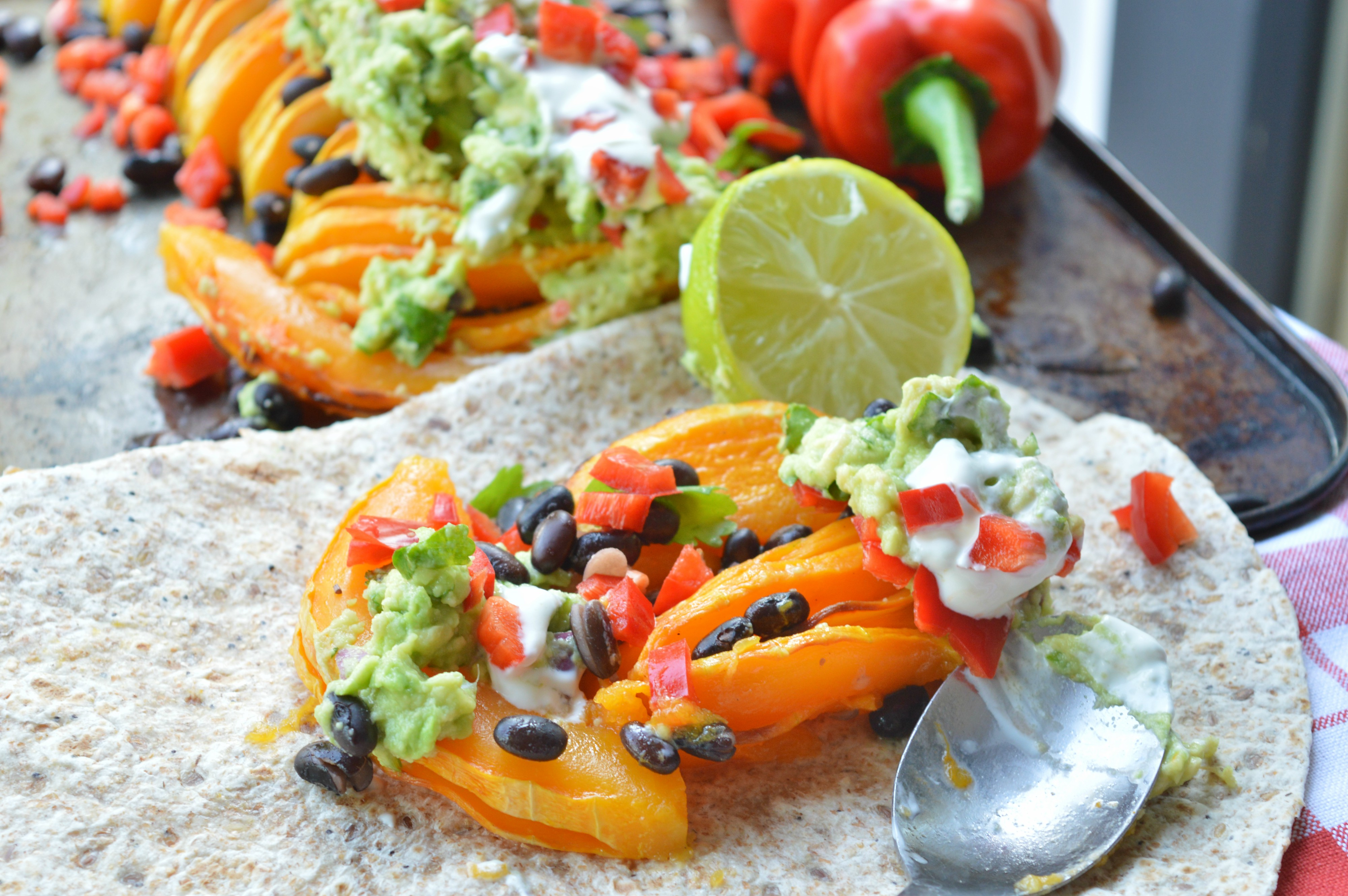 Hasselback Butternut Squash Mexican Style