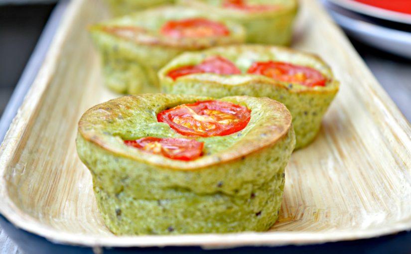 Cherry Tomato & Cream Cheese Spinach Muffins