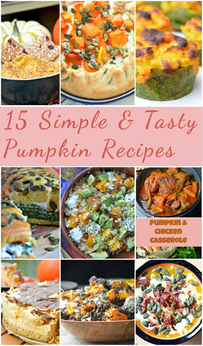 15 Simple & Tasty Pumpkin Recipes