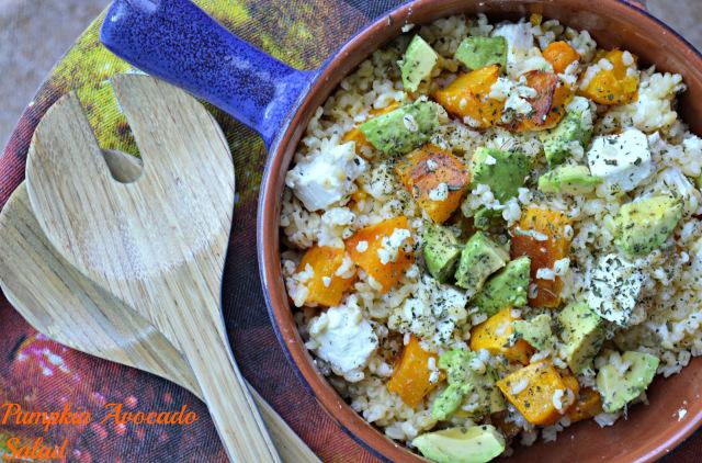 Pumpkin, Avocado & Feta Cheese Salad