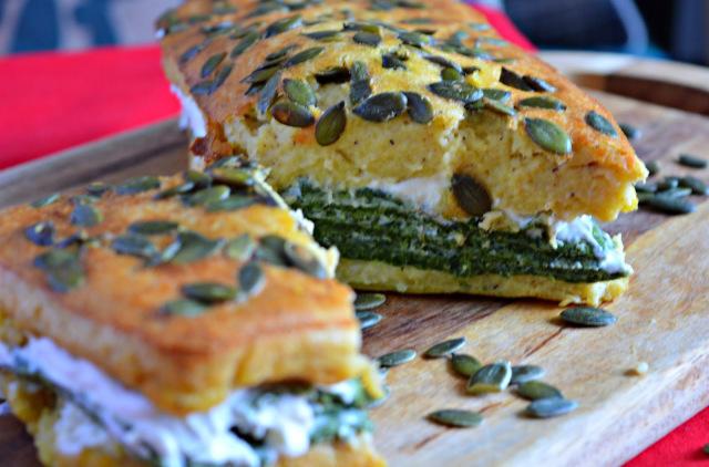 Pumpkin & Spinach Terrine Bread