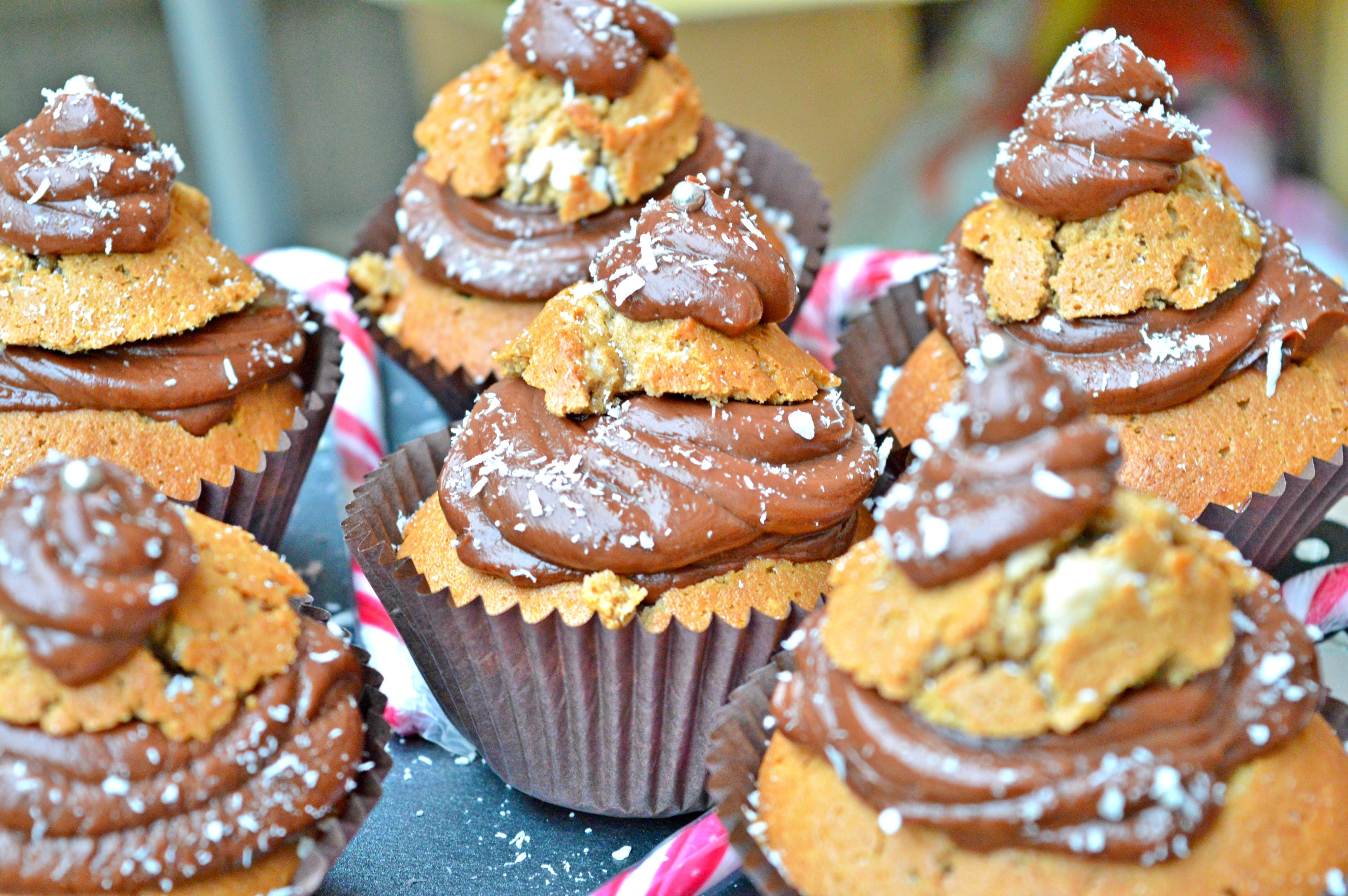 Mocha Christmas Tree Muffins