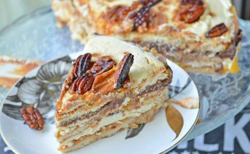 Pumpkin & Chocolate Biscuit Cake
